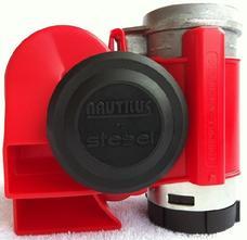 Nautilus Motorcykel kompressorhorn, Röd