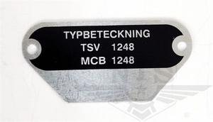 Type plate MCB 1248
