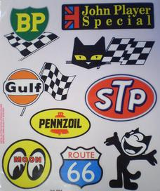 Set of stickers old school