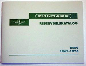 Reservdelskatalog Zündapp KS50 1967-1976
