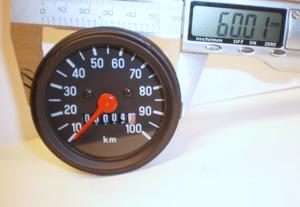 Speedometer Zundapp 60 mm