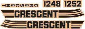 Set of stickers crescent Compact  1248, 1252