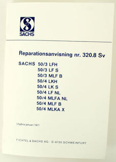 Repair instructions Sachs (Swedish)